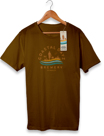 Logo Tshirt Brown - Coastal Dayz